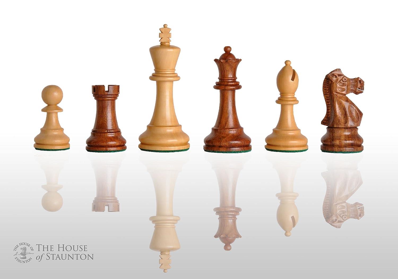 The House of Staunton - ワイルドナイトチェスセット - ピースのみ - 4.4インチ キング - ゴールデンローズウッド B01NCJOGGX