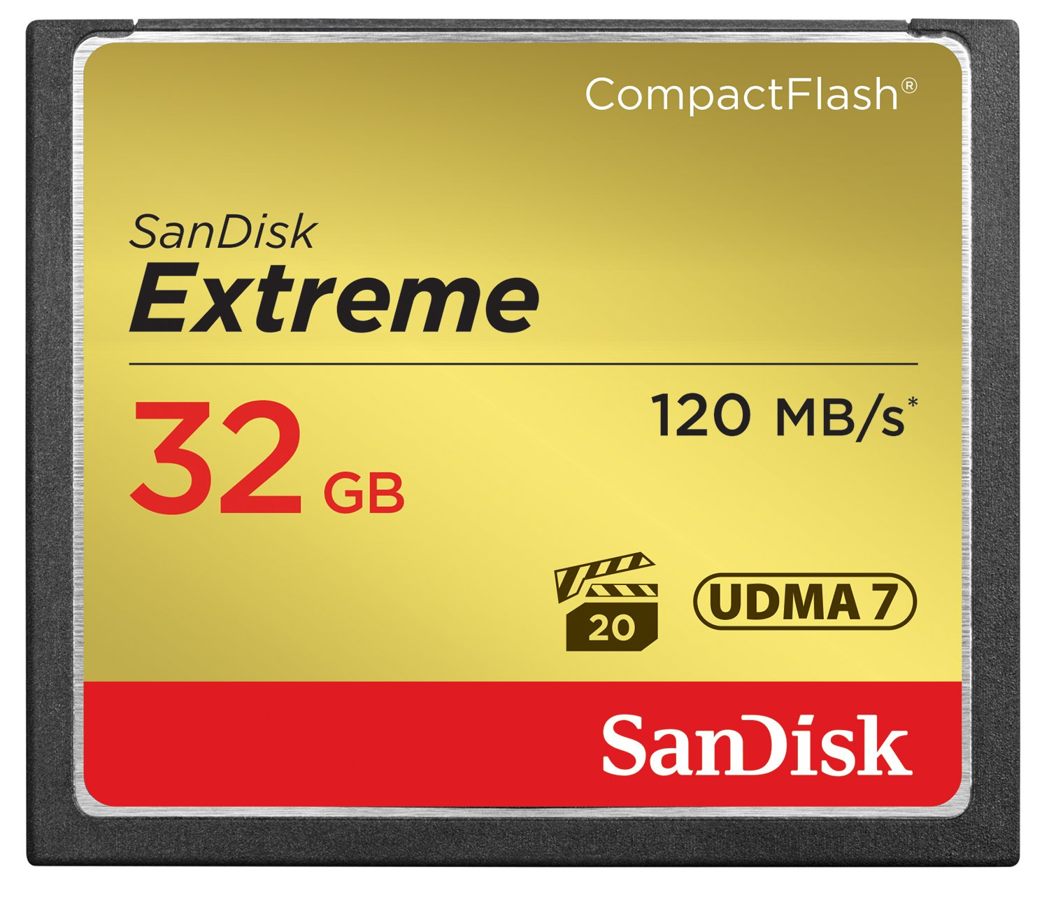 SanDisk Extreme 32GB Compact Flash Memory Card UDMA 7 Speed Up To 120MB/s- SDCFXS-032G-X46 by SanDisk