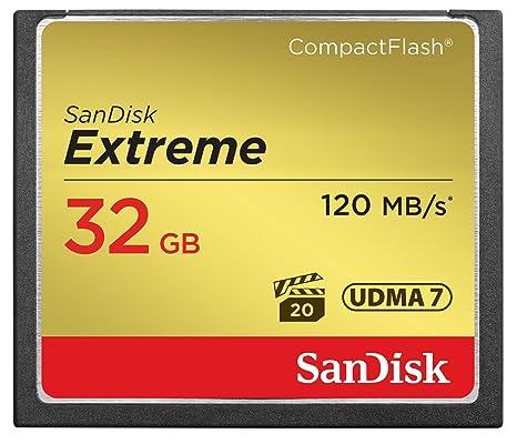 SanDisk SDCFXS-032G-X46 32GB Extreme 120MB/s UDMA 7 CompactFlash Memory Card