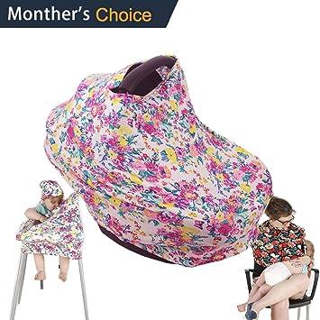 Amazon.com: shellbobo bebé asiento de coche Floral Musilin ...