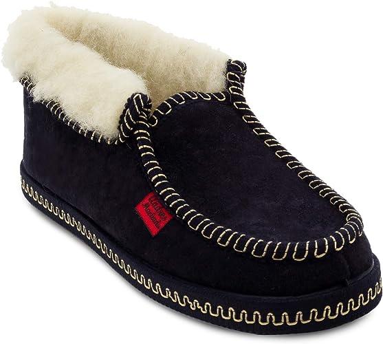 Agnello Pantofole con suola in gomma Ciabatte Pantofole