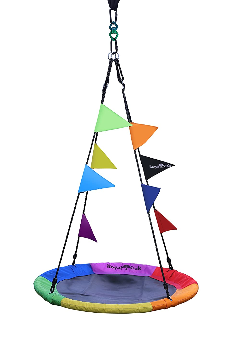 Tire Swings Royal Oak Colorful Rainbow Flags for Saucer Swing Great for Parties and Events Durable Material Weather Proof