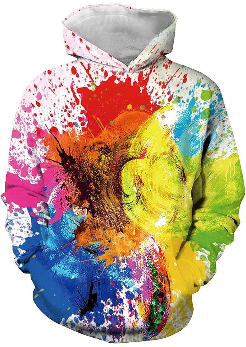 EUDOLAH Jungen Sweatshirts f/ür 4-13 Alter Kinder Langarm 3D Druck Mehrfarbig Bunt Kids Herbst Winter Hemd mit Kaputzen