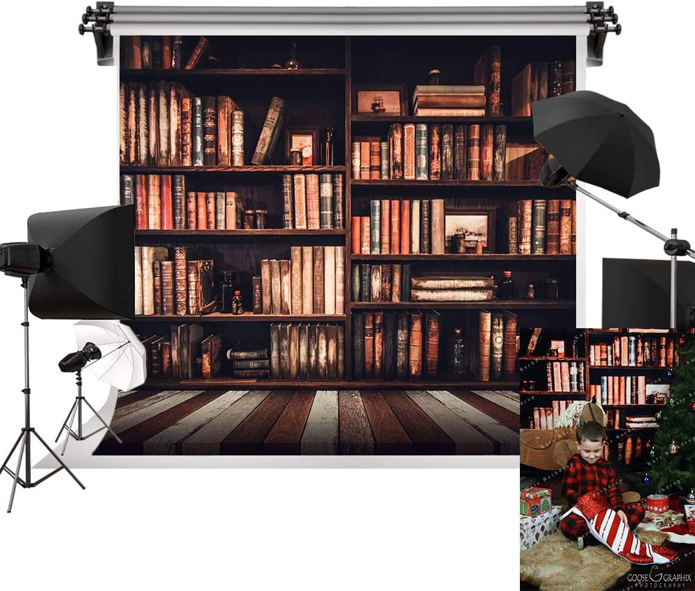 Kate 7x5ft/2.2m(W) x1.5m(H) Back to School Backdrop Homecoming Day Backgrounds Happy School Year Backdrops Bookshelf Photography Background