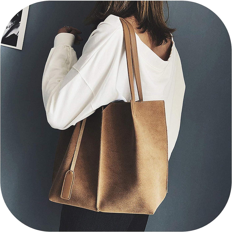 Women Suede Handbags Soft...