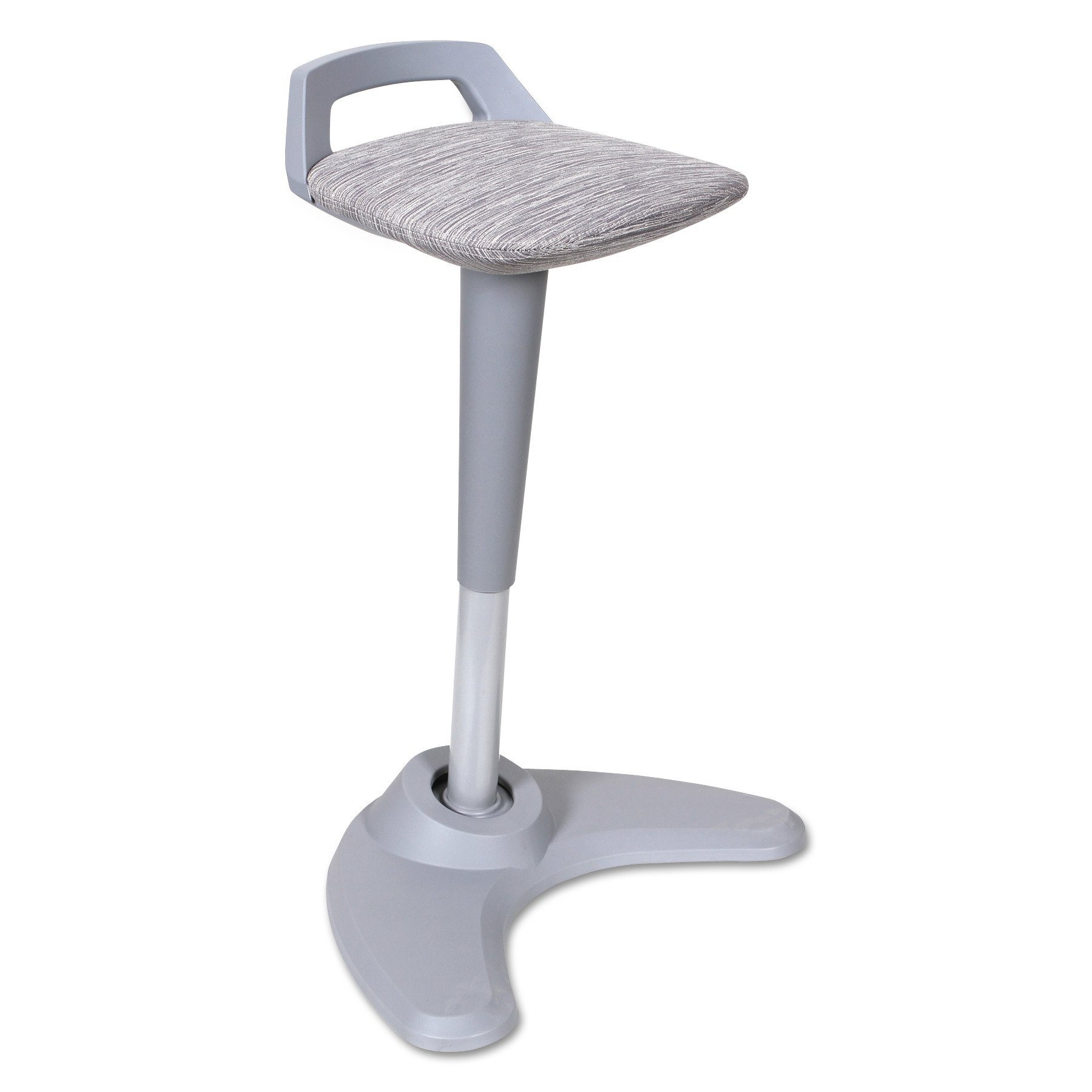 Alera ALEAE36PSGR AdaptivErgo Sit to Stand Perch Stool, Gray with Silver Base
