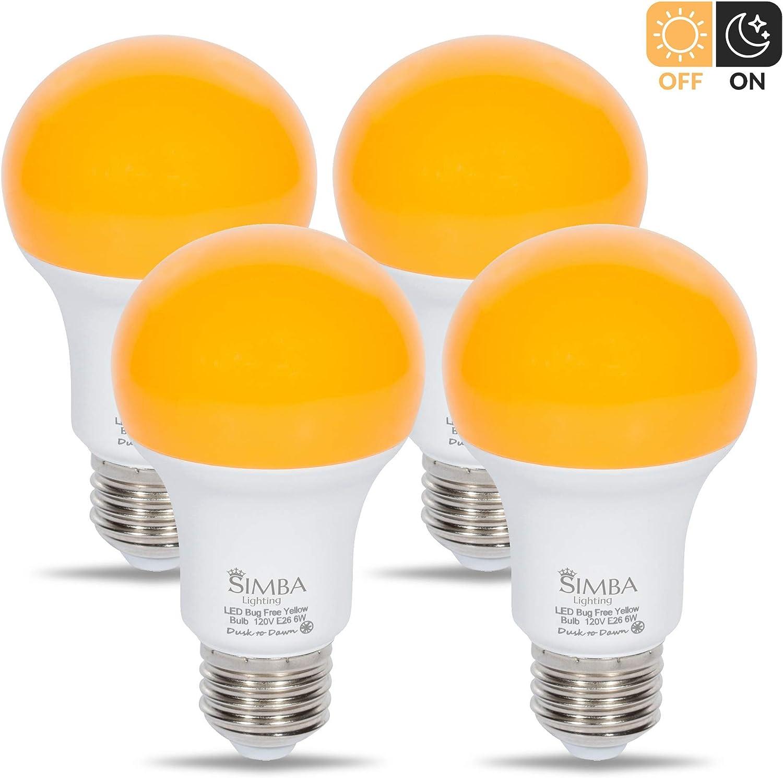 Simba Lighting LED Bug Repelling Yellow Bulb 6W 40W Equivale