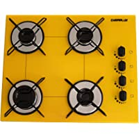 Cooktop Chamalux 4 bocas ultra chama amarelo gás natural
