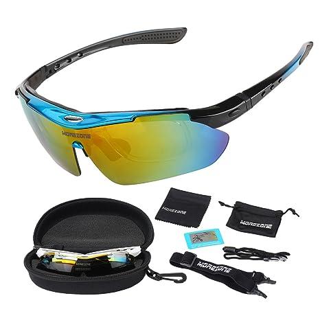 New Fashion, stile libro, per sport da esterni, resistente ai raggi UV, da ciclismo, colore lenti per occhiali da sole Unisex, colore: Giallo