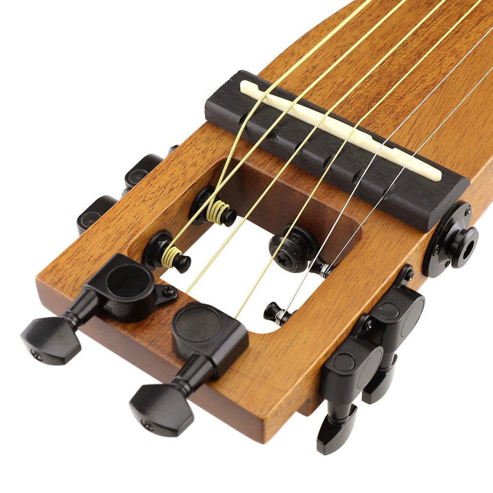 De la guitarra acústica de 6 Anygig traste de cuerdas de Nylon 64,77 cm + bolsa de escala de mochilero (madera): Amazon.es: Instrumentos musicales