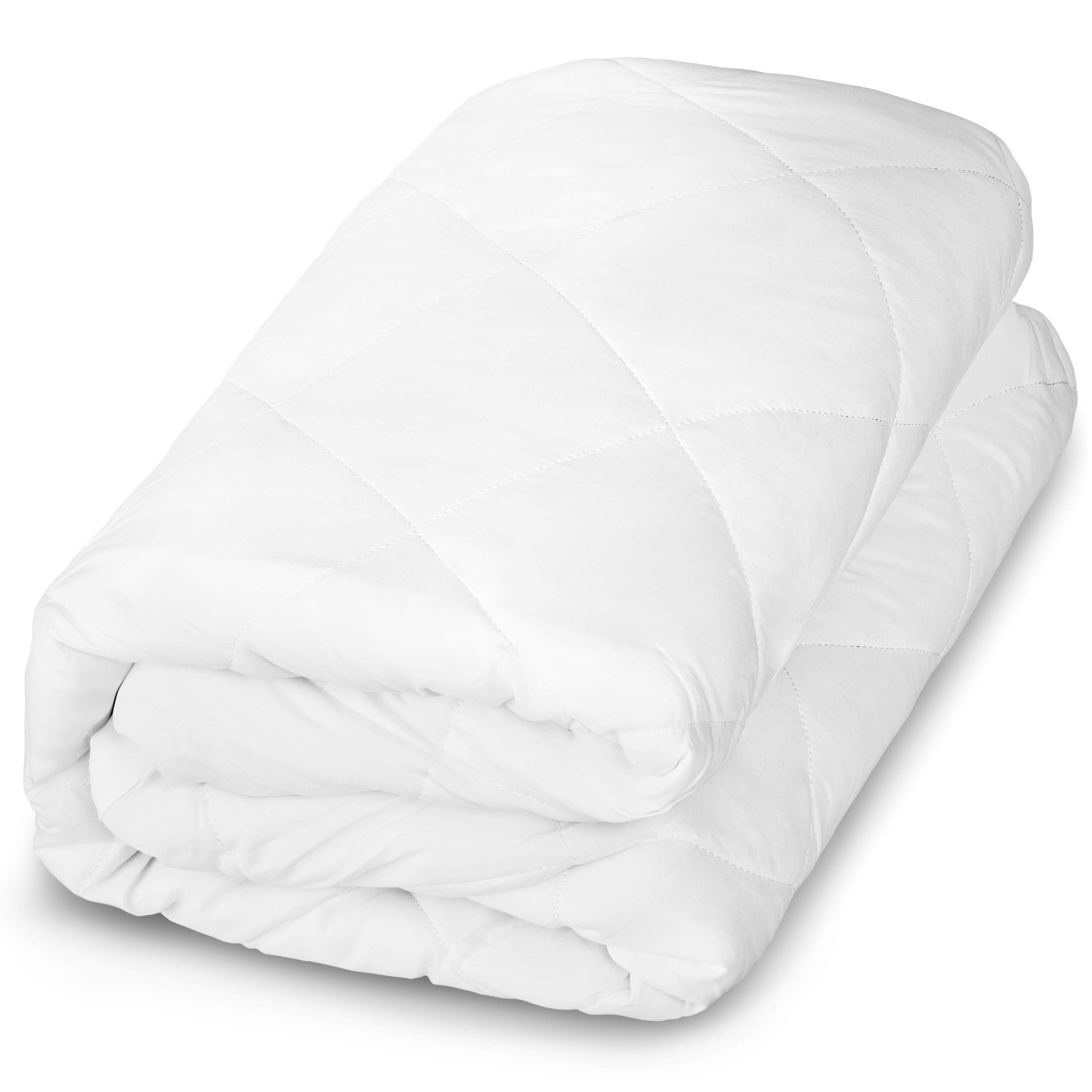 Bare Home Quilted Fitted Mattress Pad - Cooling Mattress Topper - Hypoallergenic Down Alternative Fiberfill - Stretch-To-Fit (Cal King)
