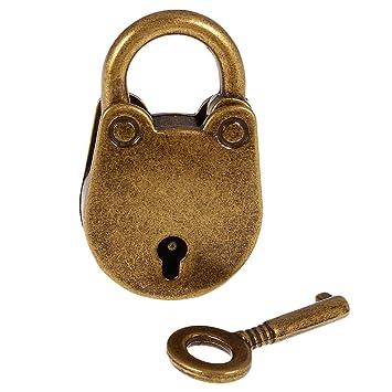 CHINESISCHES KOMBINATIONS VORHÄNGESCHLOSS Schlösser Schlüssel Bronze