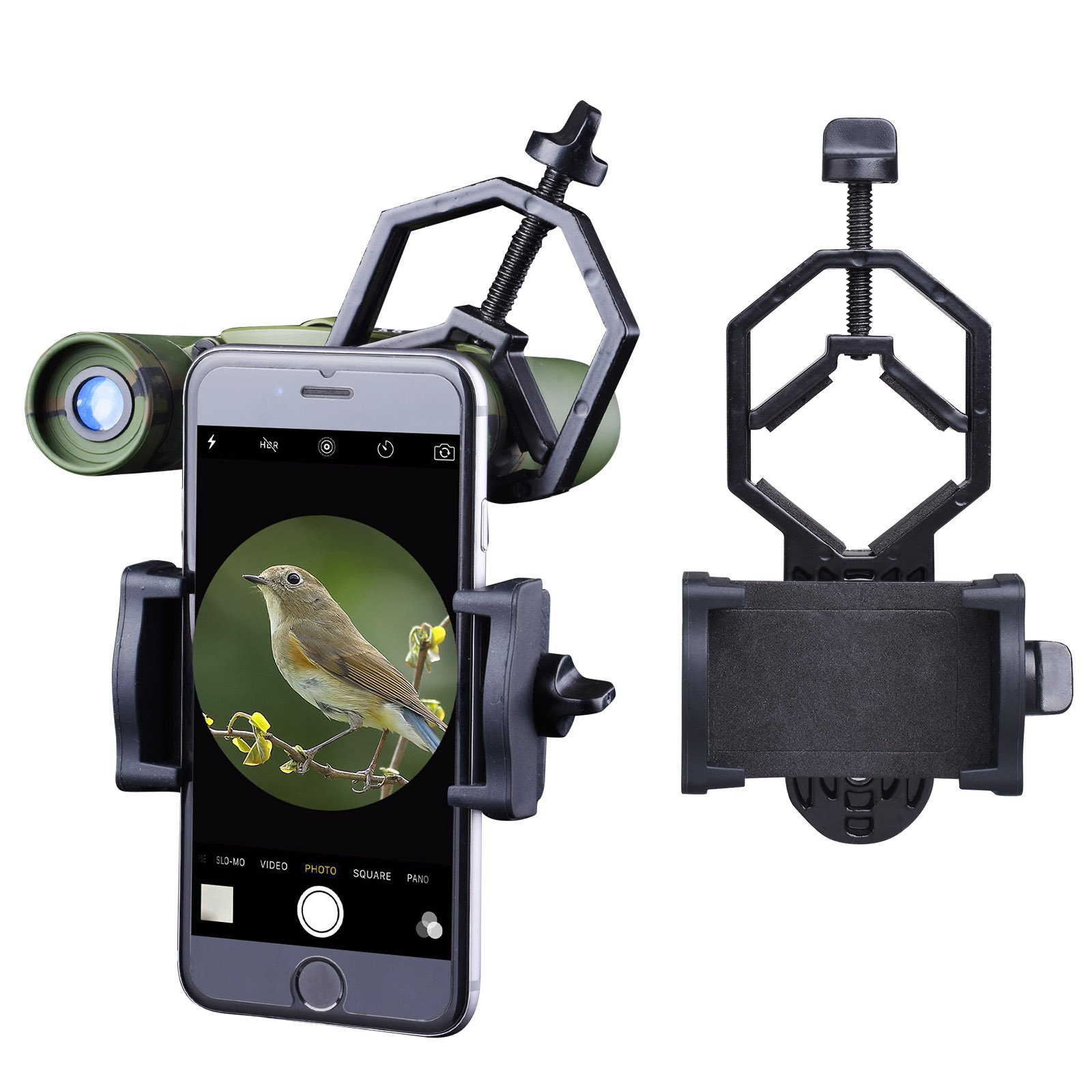 Universal Cell Phone Adapter Mount - Goodes Telescope Phone Adapter Compatible with Binocular Monocular Microscope Spotting Scope Mount for iPhone and Smartphones (Telescope Phone Adapter)