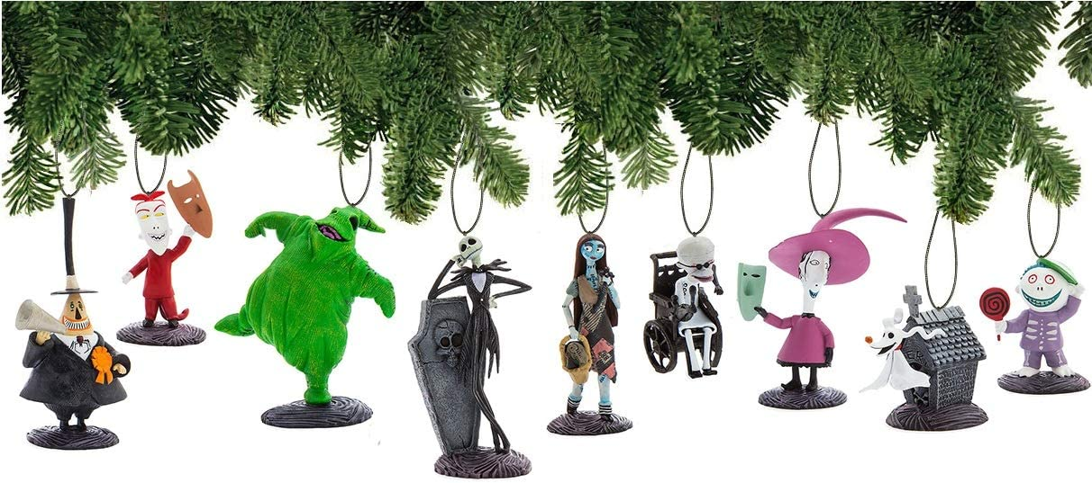 Amazon Com Disney Nightmare Before Christmas Ornament Set Deluxe Holiday Decorations Kitchen Dining