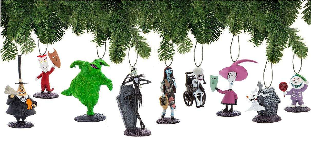 Disney Nightmare Before Christmas Ornament Set Deluxe Holiday Decorations by Disney