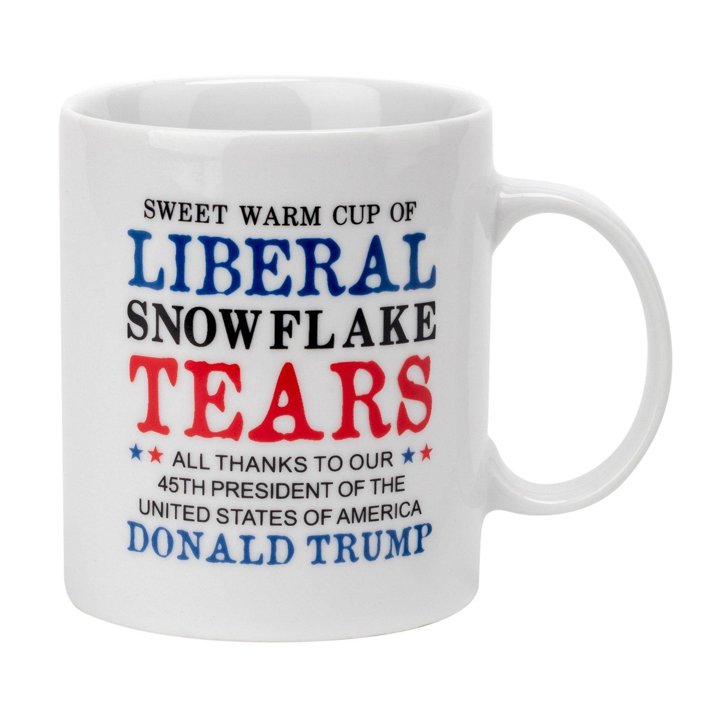 Trump Mug - Liberal Tears Mug, Donald Trump Coffee Mug 11 oz Donald Trump Fathers Day Mug MAGA Trump Coffee Mug - Ceramic Mug Make America Great Again Coffee Mugs for Dad Sister Friends Republican
