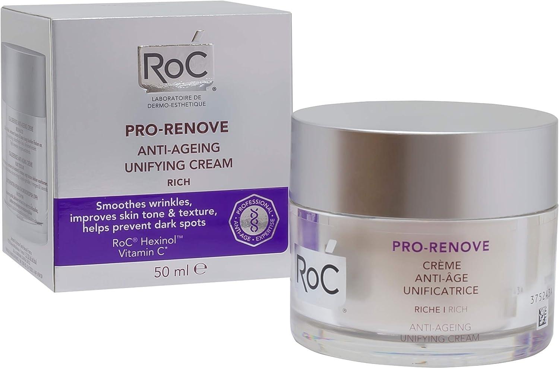 ROC Pro Renove - Crema Anti Edad, Unificante, Textura Rica, 50 ml