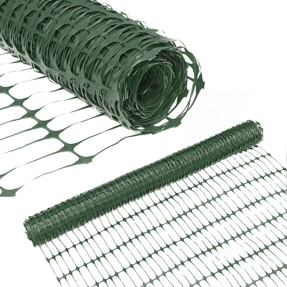 Abba Patio Guardian Safety Netting, Snow Fencing, Recyclable Plastic Barrier Environmental Protection, Dark Green, 4 x 100 Feet