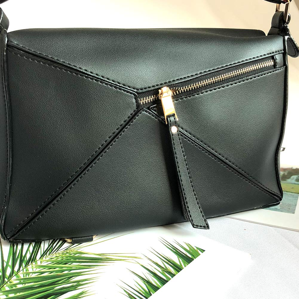 Yoome Women s Faux Leather Casual Tote Bag Boston Shoulder Bag Contrast  Color Ipad Purses and Handbags - Black  Amazon.co.uk  Shoes   Bags 9b46f037b1cee