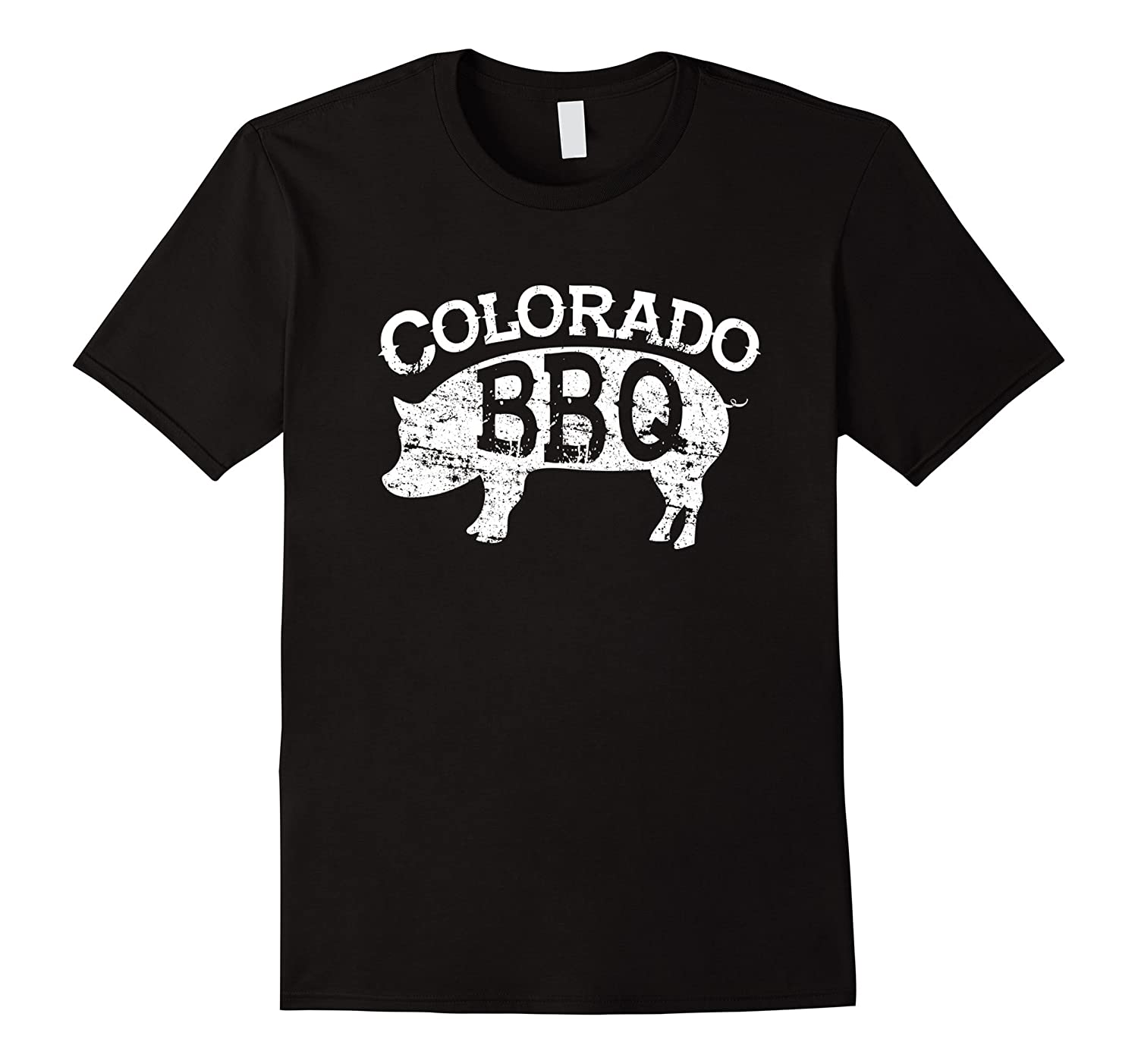 State of Colorado BBQ Shirt - Pit Barbecue Pig Grilling Pork-RT