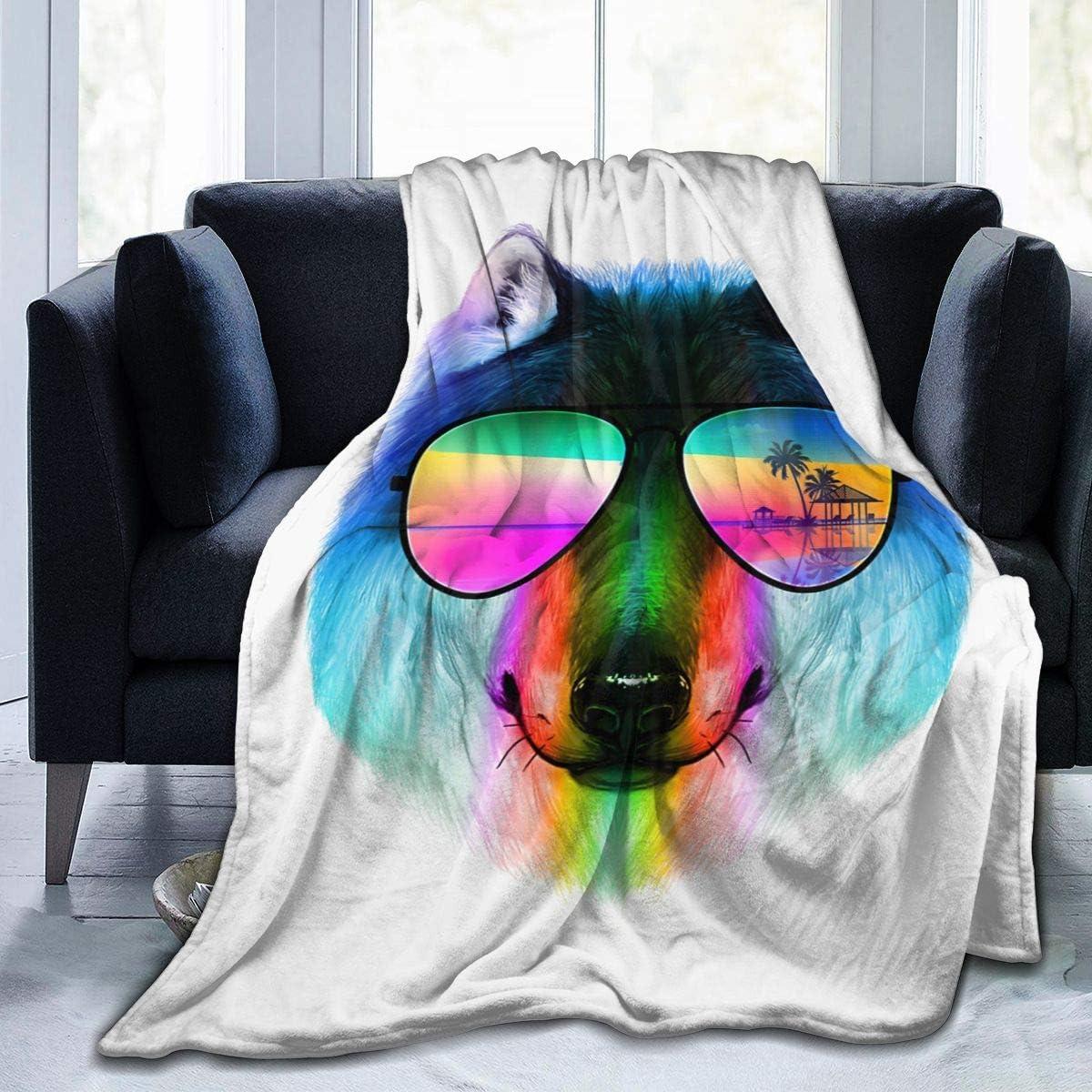 Amazon Com Vickcy Summer Wolf Blanket Super Soft Warm Flannel Blanket For Adults Children 80 X60 Kitchen Dining