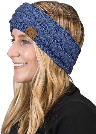 Chunky Head Band Head Warmer Ski Band Messy Bun Band Wool Blend Extra Wide Chunky Style Ear Warmer