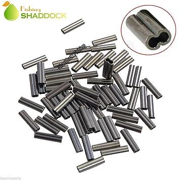 SHADDOCK Angeln® 50,100pcs 100% Angeln Double Messing Tube Barrel ...