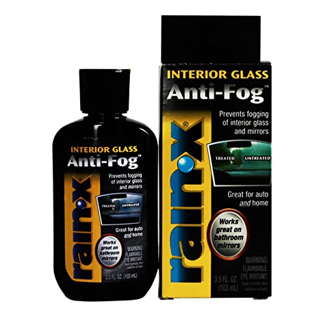 Rain-X BCAF21112 - Anti-Fog for Interior Car Glass and Home Glass and  Mirrors - 3 5 fl  oz (103 ml )