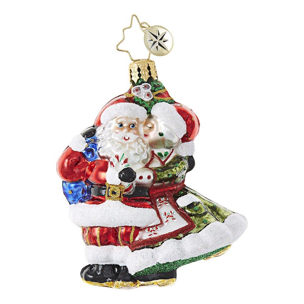 Christopher Radko Mr & Mrs Mistletoe Little Gem Christmas Ornament