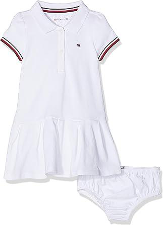 Tommy Hilfiger Baby Polo Dress S/s Vestido, Blanco (Bright White ...