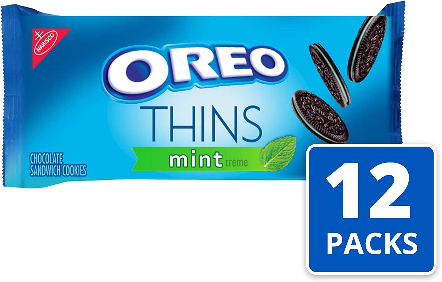 Oreo Thins Mint Sandwich Cookies (10.1-Ounce Packages, 12-Pack ...
