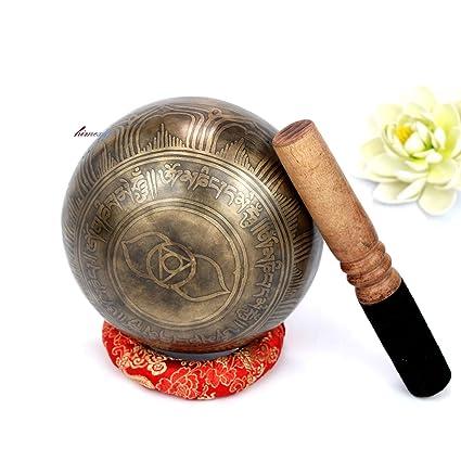 Amazon.com: 5.5 in, hecho a mano tibetano tercer ojo Chakra ...