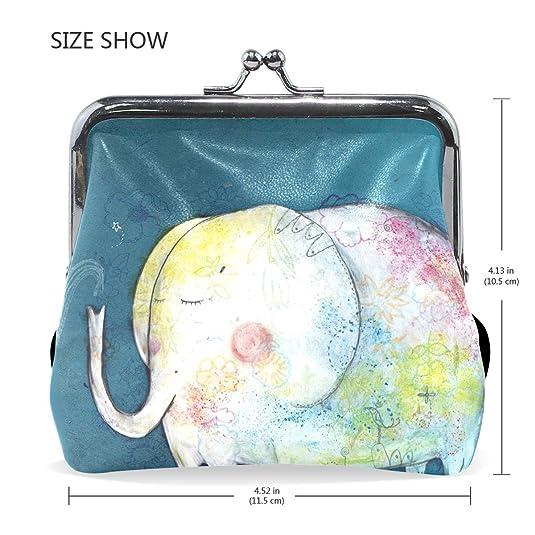 Amazon.com: vipsk colorido elefante blanco cartera impresión ...