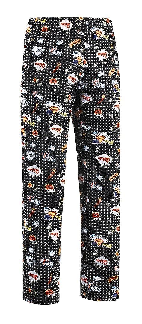 Egochef - Pantaloni Cuoco con Coulisse - 100% Cotone - Pop Art (xxxl)