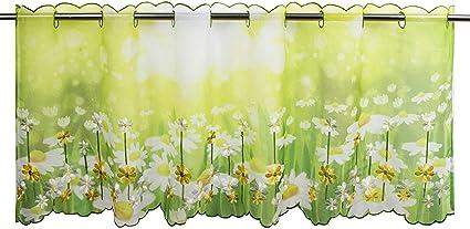 rideau moderne et transparent pour No/ël rideau bistrot salle de s/éjour blanc 45x90 cm Rideau brise-bise /ÉPOQUE DE NO/ËL pour cuisine