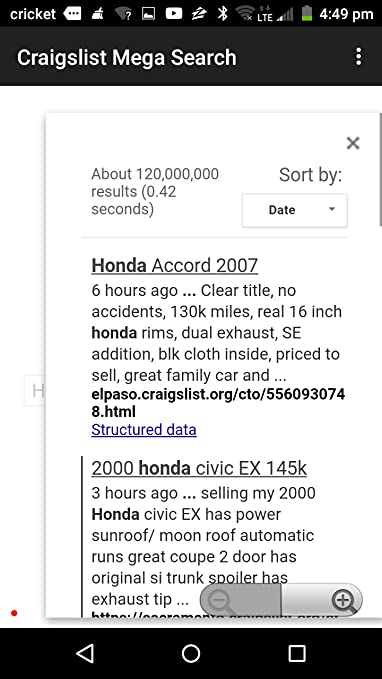 Amazon com: Craigslist Mega Search: Appstore for Android
