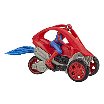 Spider-Man Marvel Stunt Vehicle 6-Inch-Scale Super Hero Action Figure and Vehicle Toy Great Kids for Ages 4 and Up: Toys & Games