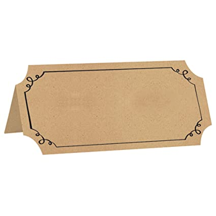 amazon com jam paper foldover table place cards 2 x 4 brown