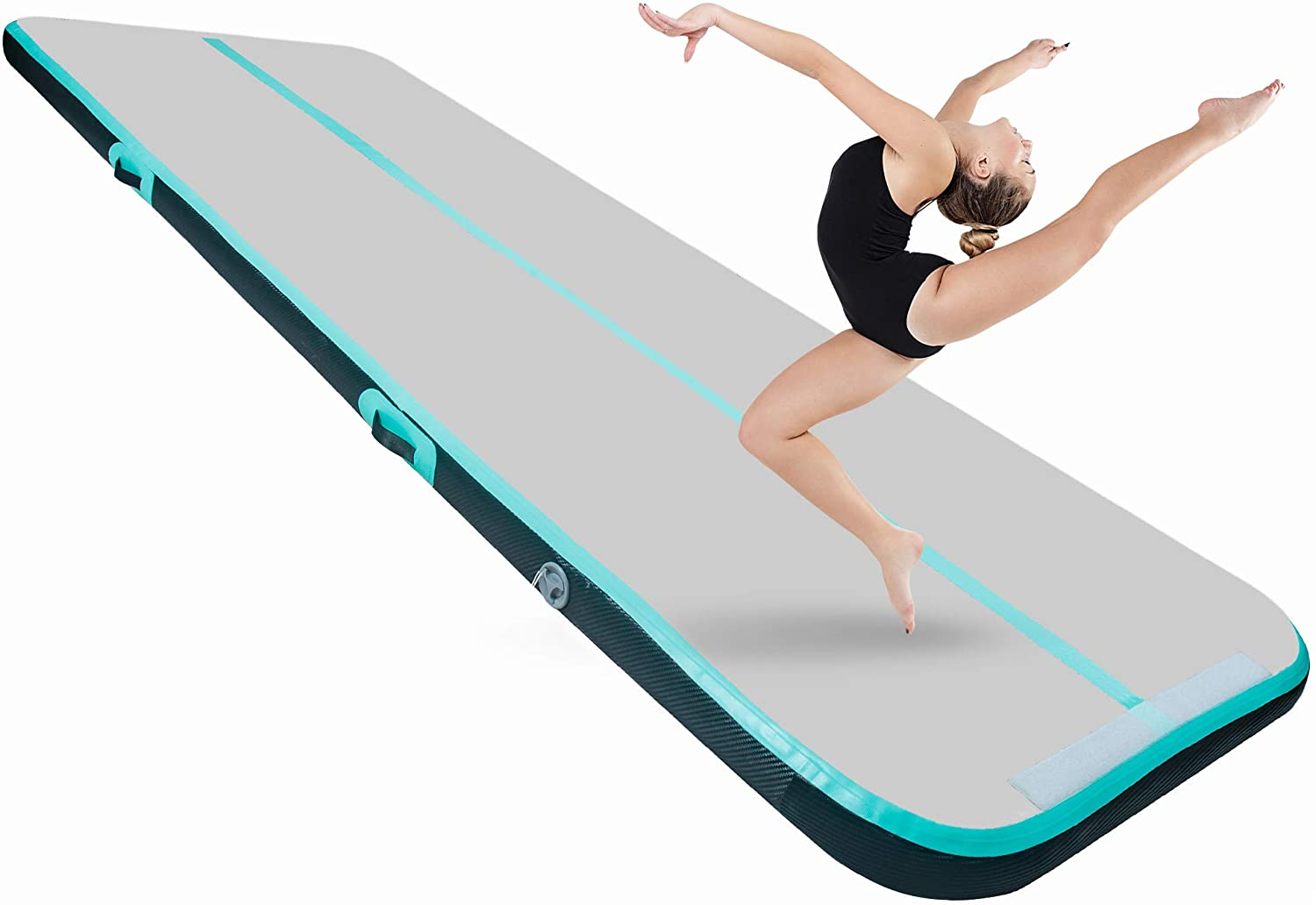 BEYOND MARINA 3.3ft 10ft 13ft 16ft 20ft Air Track Tumbling Mat Inflatable Gymnastics Mat 4/8 inches Thickness Airtrack Tumbling Mats for Home Training Cheerleading Yoga with Air Pump