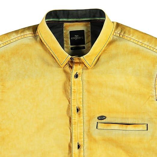 engbers Herren Hemd uni, 23757, Gelb in Größe 3XL: engbers: Amazon.de:  Bekleidung