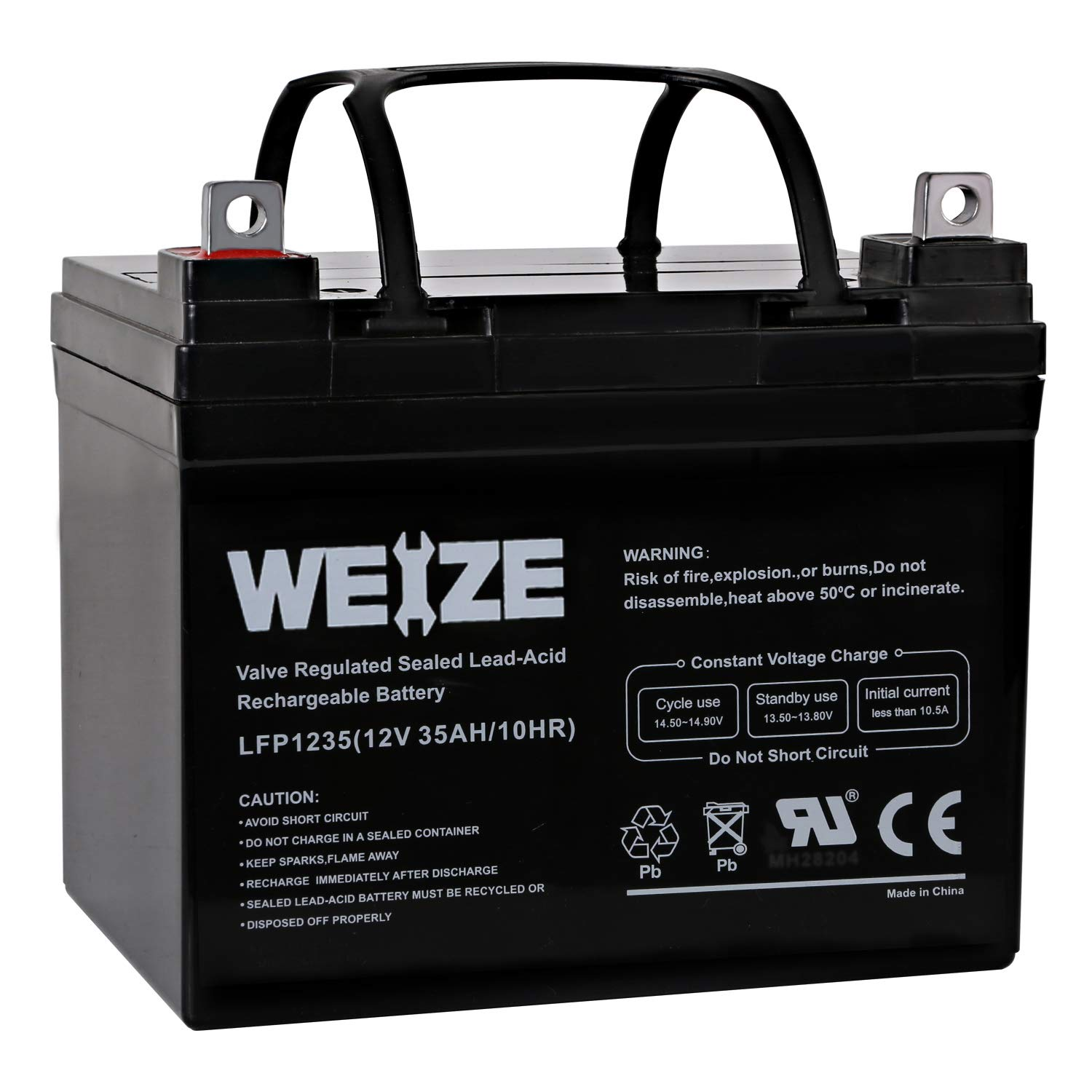 Weize 12V 35AH Rechargeable SLA Deep Cycle AGM Battery Replaces 12 Volt 33AH, 34AH, 36AH by WEIZE