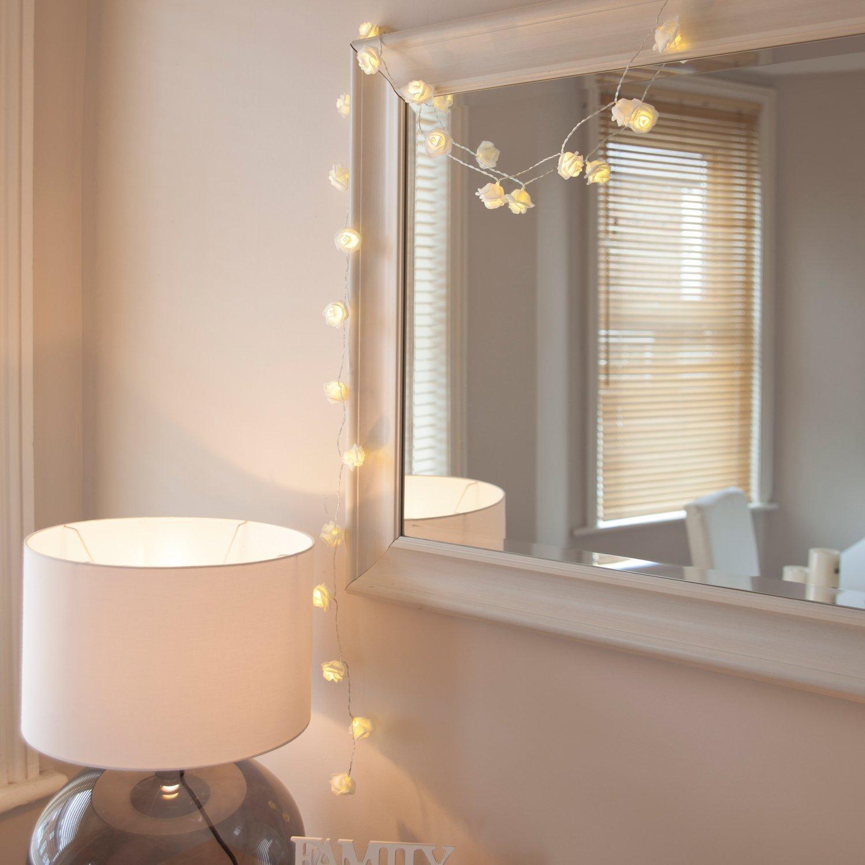Bloom Faerie Thread Illumination - Led Fairy String Light Cable Powered Wedding Home Decoration - Bioluminescent Flush Pansy Drawstring Bright Heyday Poove Bowed - 1PCs