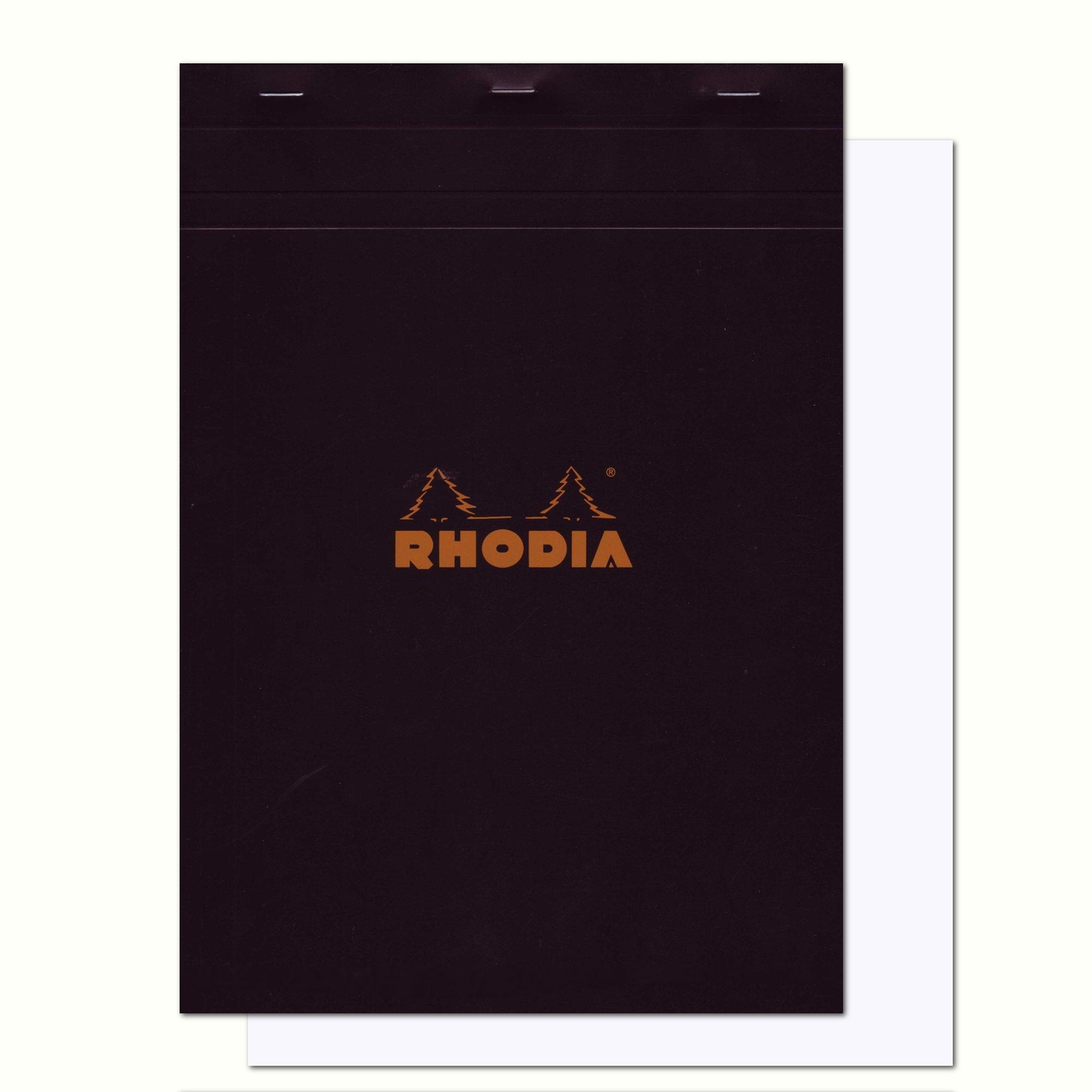 Rhodia Classic Black Notepad 8.25X11.75 Blank