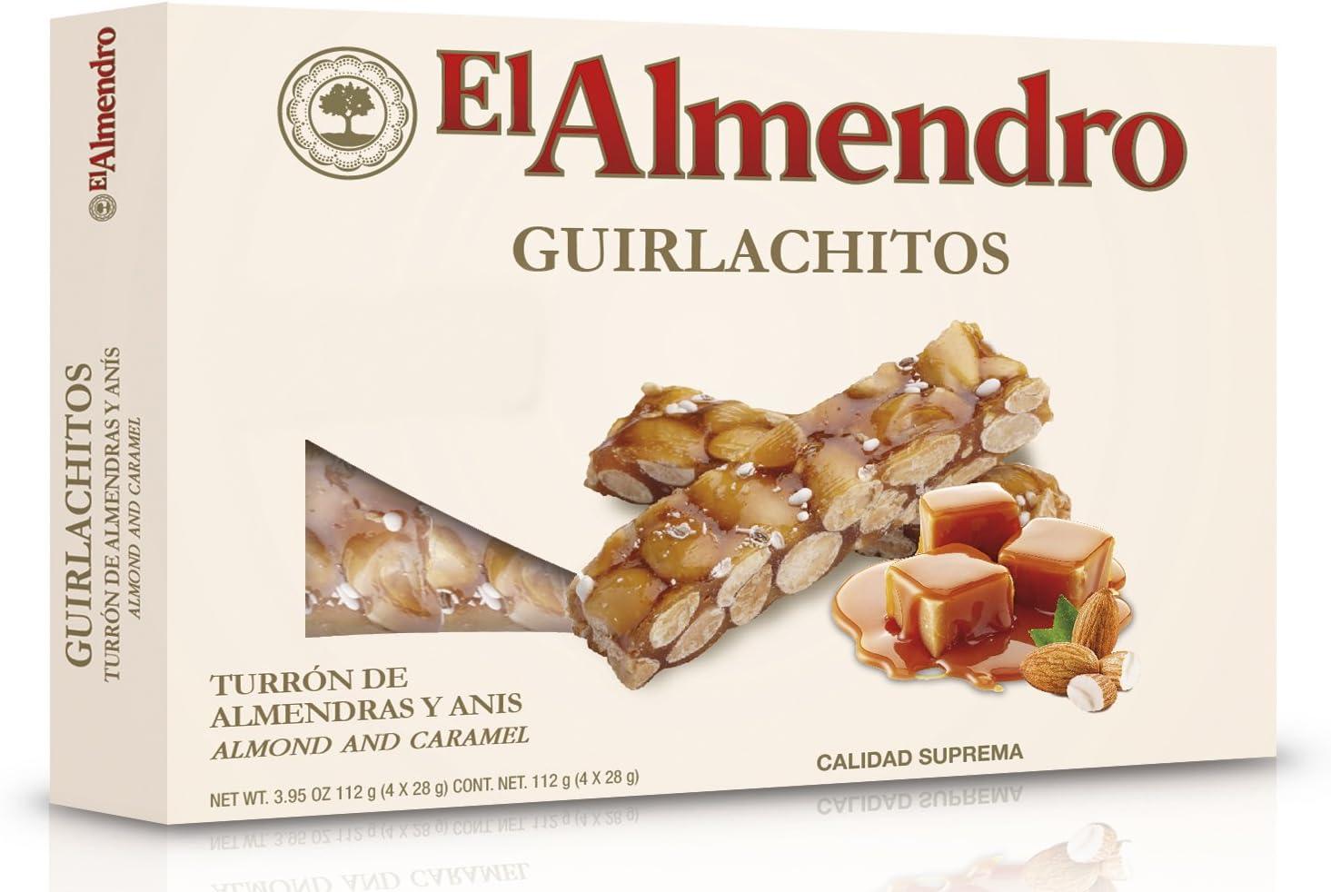 El Almendro Turrón Guirlachitos de Almendra - 120 gr: Amazon.es ...
