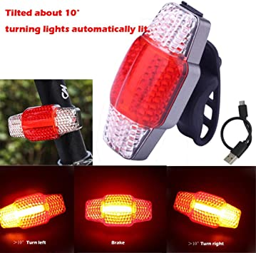 gaddrt USB Batería LED Turn Signal Blinker Light luces LED ...