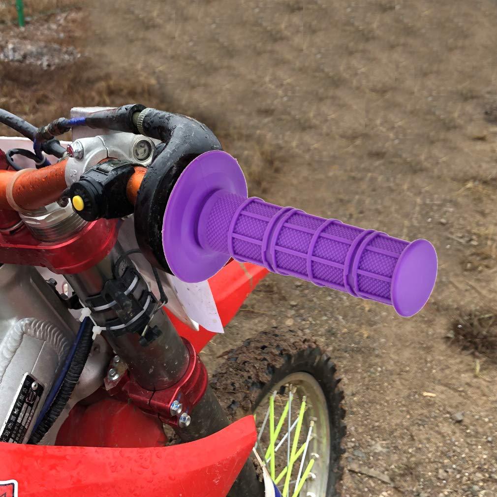 HIAORS Universal Purple 22mm 7//8 Handlebar Grip Soft Rubber Comfort Racing Grips for XR 50 KLX SSR Pit MX Honda CRF150F CRF230F CRF250F CRF450F Dirt Bike Parts