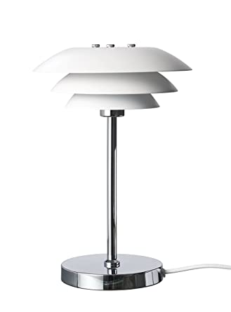 Dyberg Table Chromé Blanc Dl20 Lampe Moderne Led Design Larsen De 76gbfy