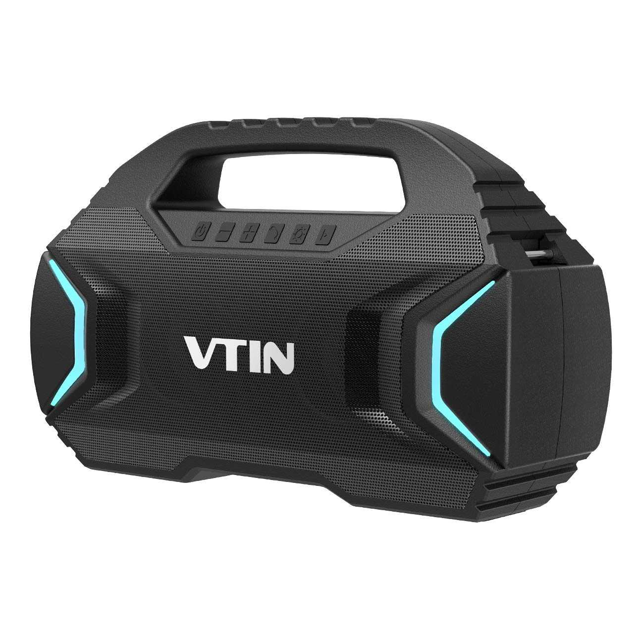 Bluetooth Speakers, VTIN R7 Waterproof Outdoor Speakers with Powerful Bass, 7 Lighting Mode, 50W Wireless Stereo Pairing Speaker with 30H Playtime,Durable for Home Party, Camping, Indoor, Outdoor by Vtin