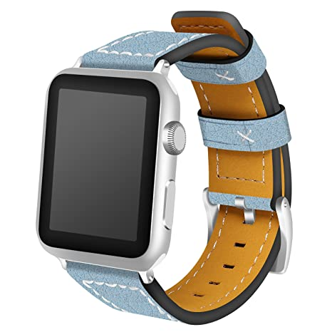 Correa para Apple Watch, AnGolf iWatch, correa de cuero de 38 mm, correa de repuesto para reloj inteligente ...
