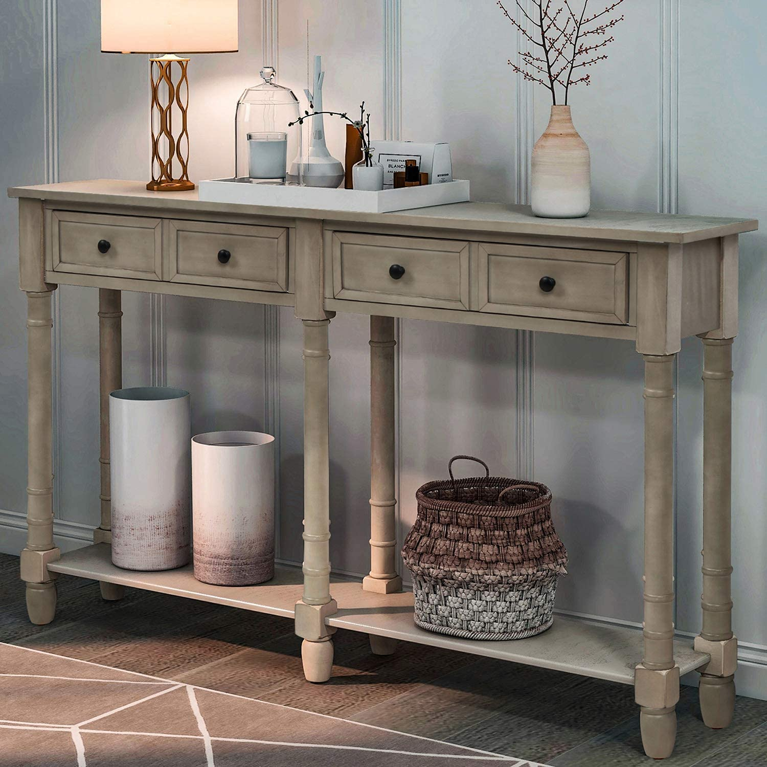 - Amazon.com: Retro Console Table Sofa Table For Entryway With
